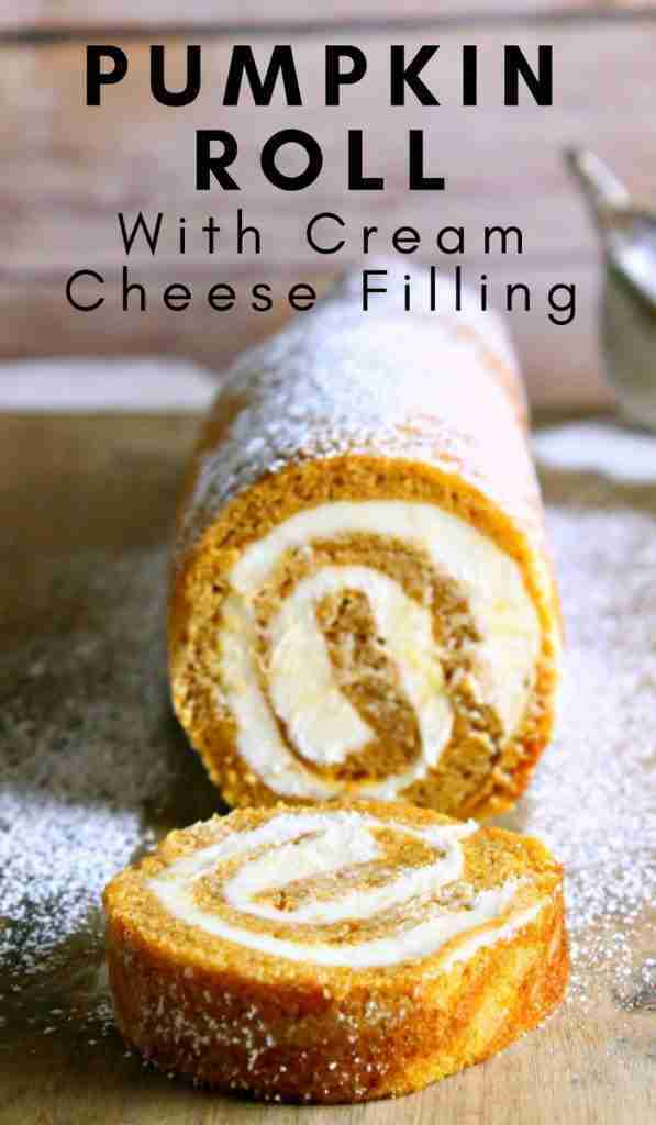 Pumpkin Roll Recipe with Cream Cheese Filling is Perfect for Fall