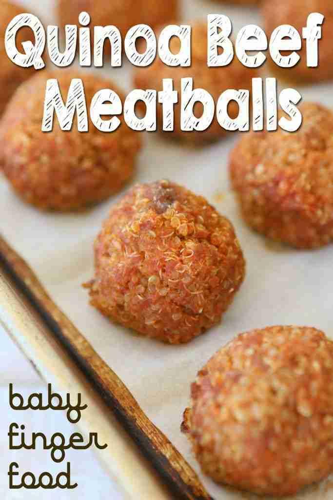 Quinoa beef meatballs – baby finger food | Buona Pappa