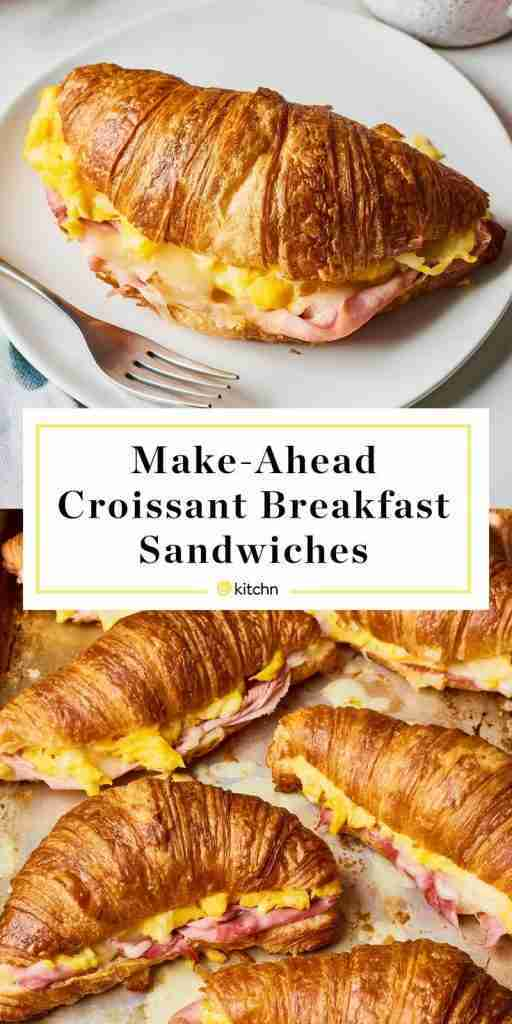 Recipe: Make-Ahead Croissant Breakfast Sandwiches