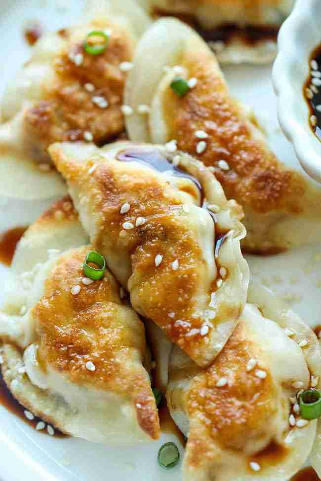 Sesame Chicken Potstickers – Damn Delicious