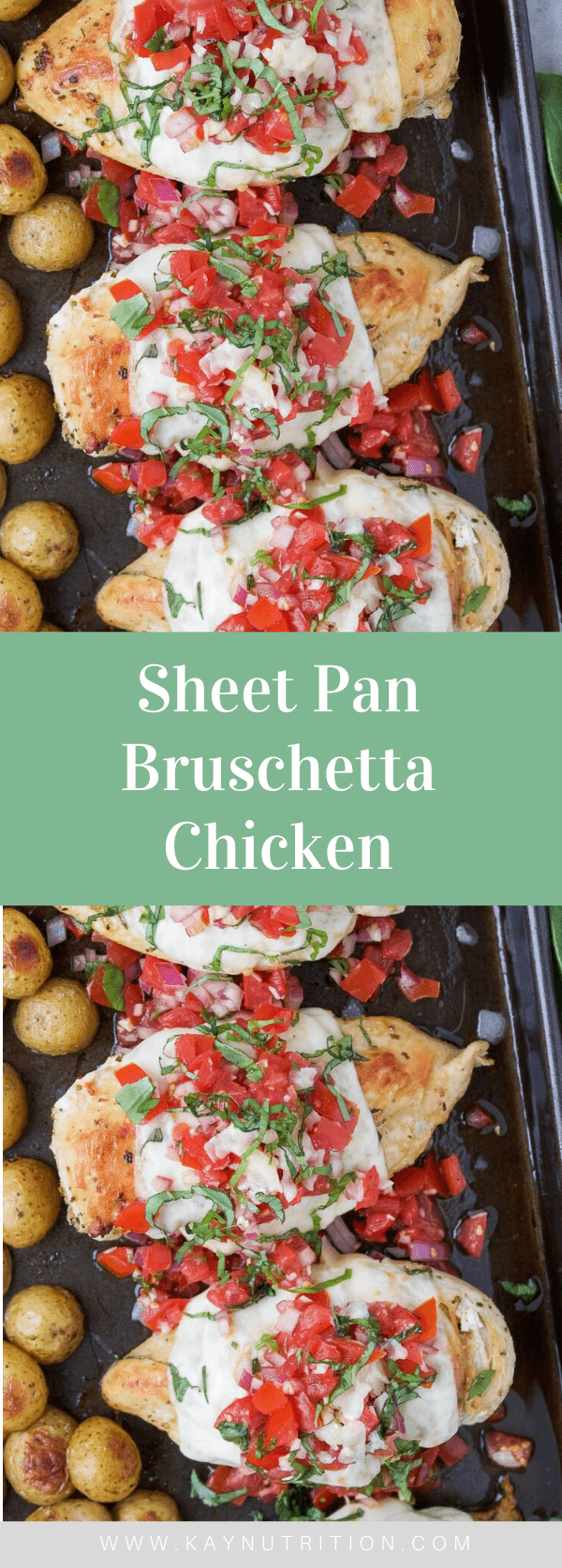 Sheet Pan Bruschetta Chicken (Baked, Healthy, Easy, Low-Carb)