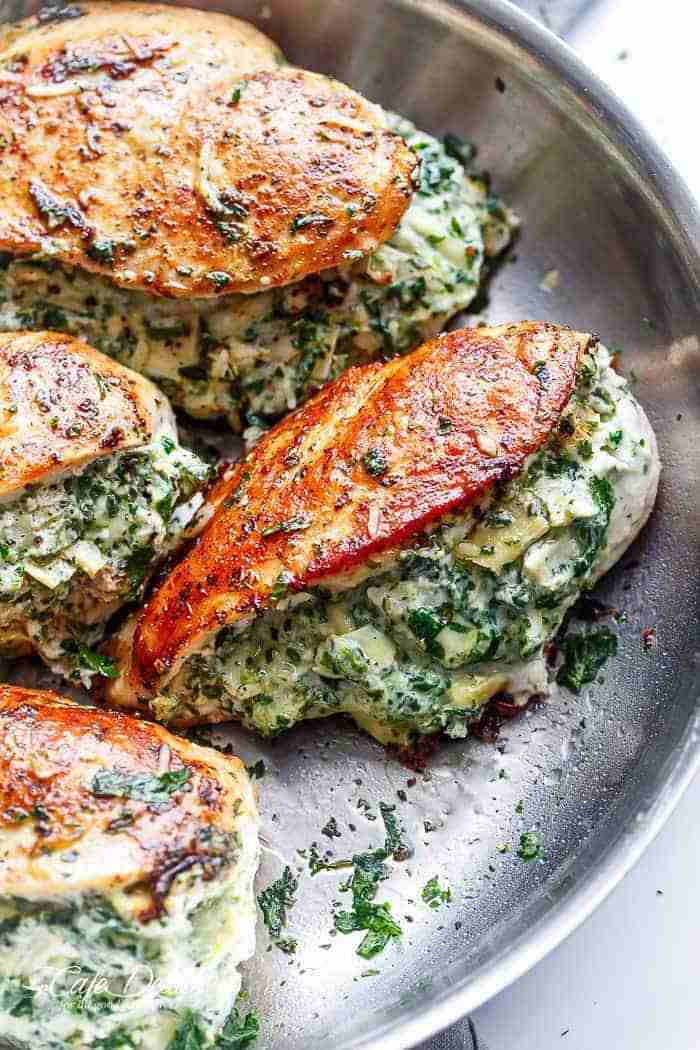 Spinach Artichoke Stuffed Chicken is a delicious way to turn a creamy dip into a…