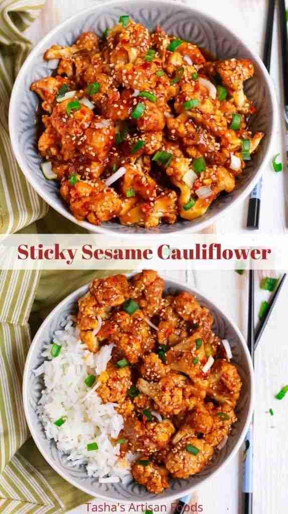 Sticky Sesame Cauliflower – Easy Glutenfree Vegan Friendly Recipe