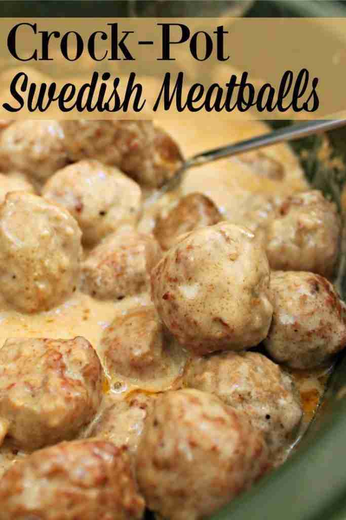 Super Simple Crock-Pot Swedish Meatballs