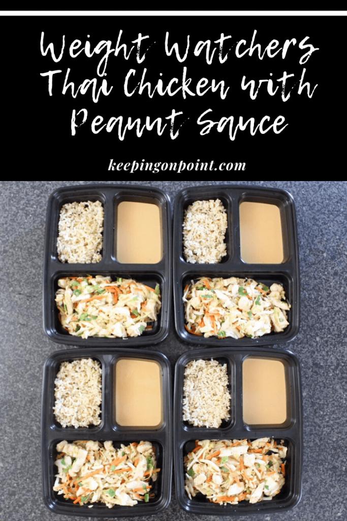 Thai Chicken with Peanut Sauce – Meal Prep