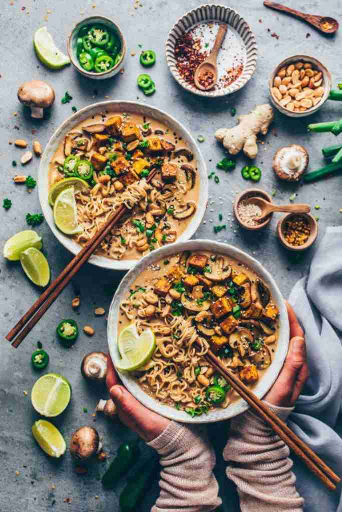 Thai Peanut Ramen Noodle Soup – Vegan – Bianca Zapatka | Recipes