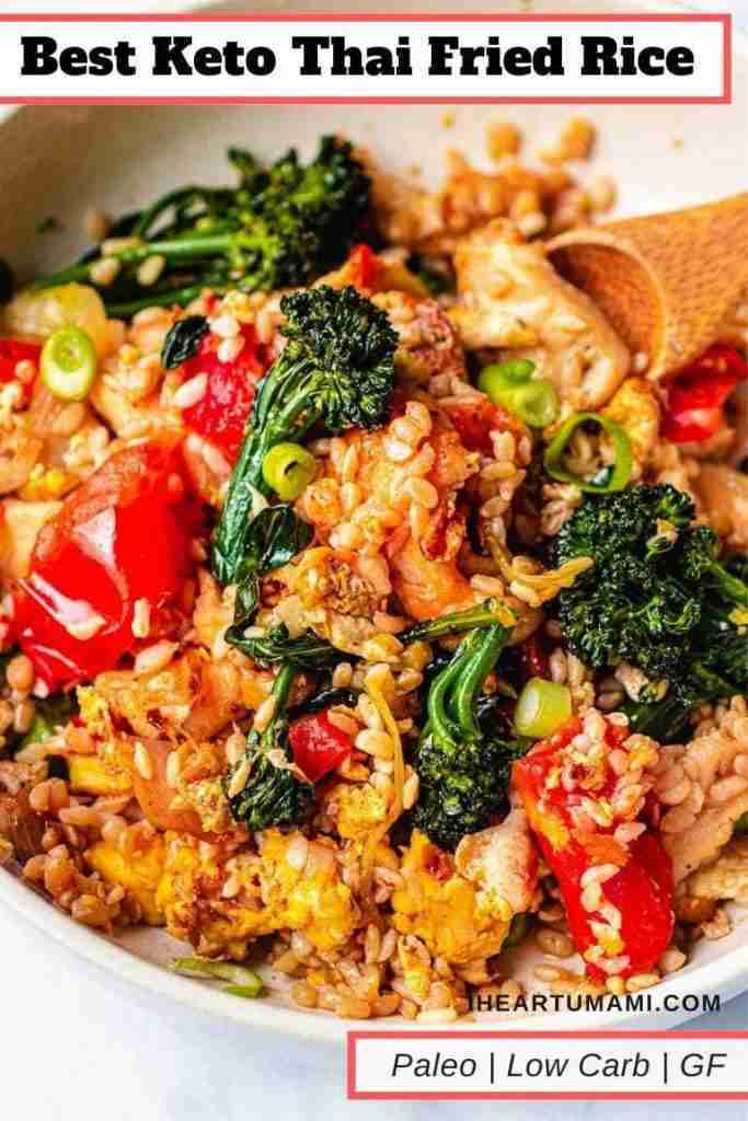 The Best Low Carb Thai Fried Rice!
