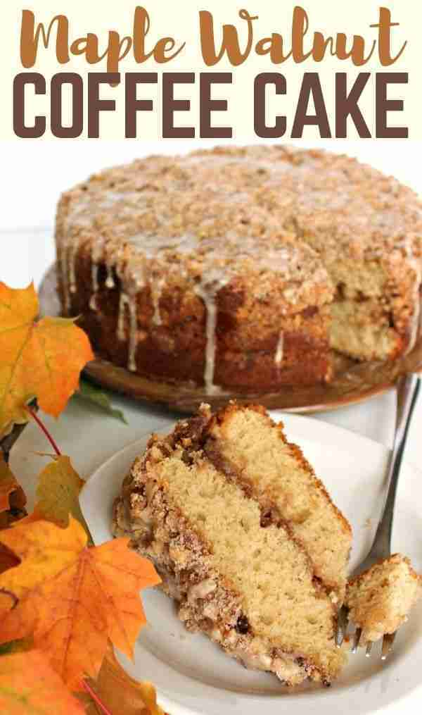 This Maple Walnut Coffee Cake has a thin layer of cream cheese filling, enhanced…