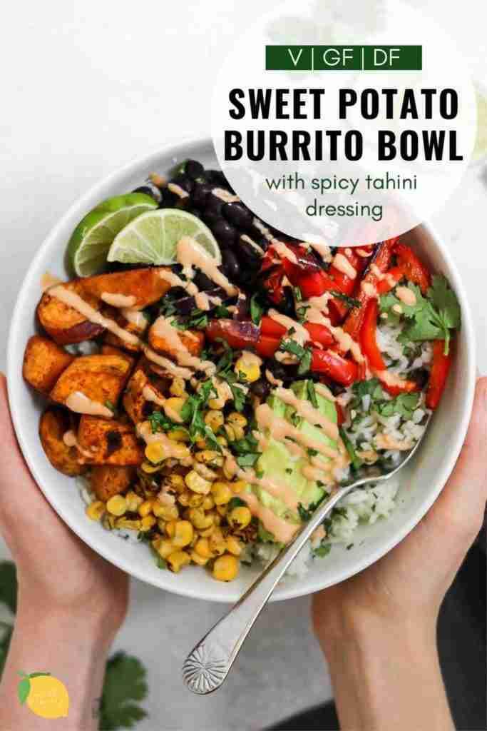 Vegan Sweet Potato & Black Bean Burrito Bowl | Eat With Clarity