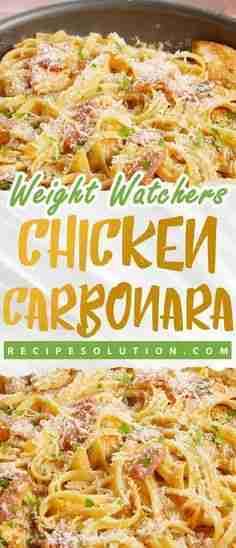 chicken carbonara recipe – Weight Watchers Friendly