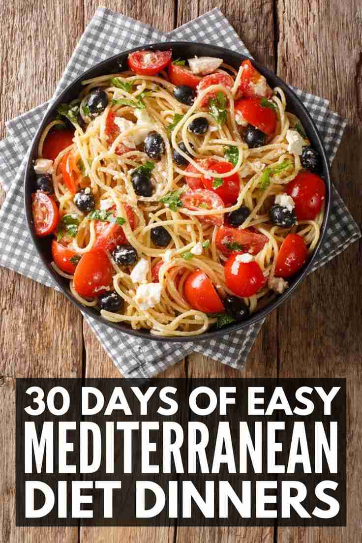 30-Day Mediterranean Diet Meal Plan for Weight Loss