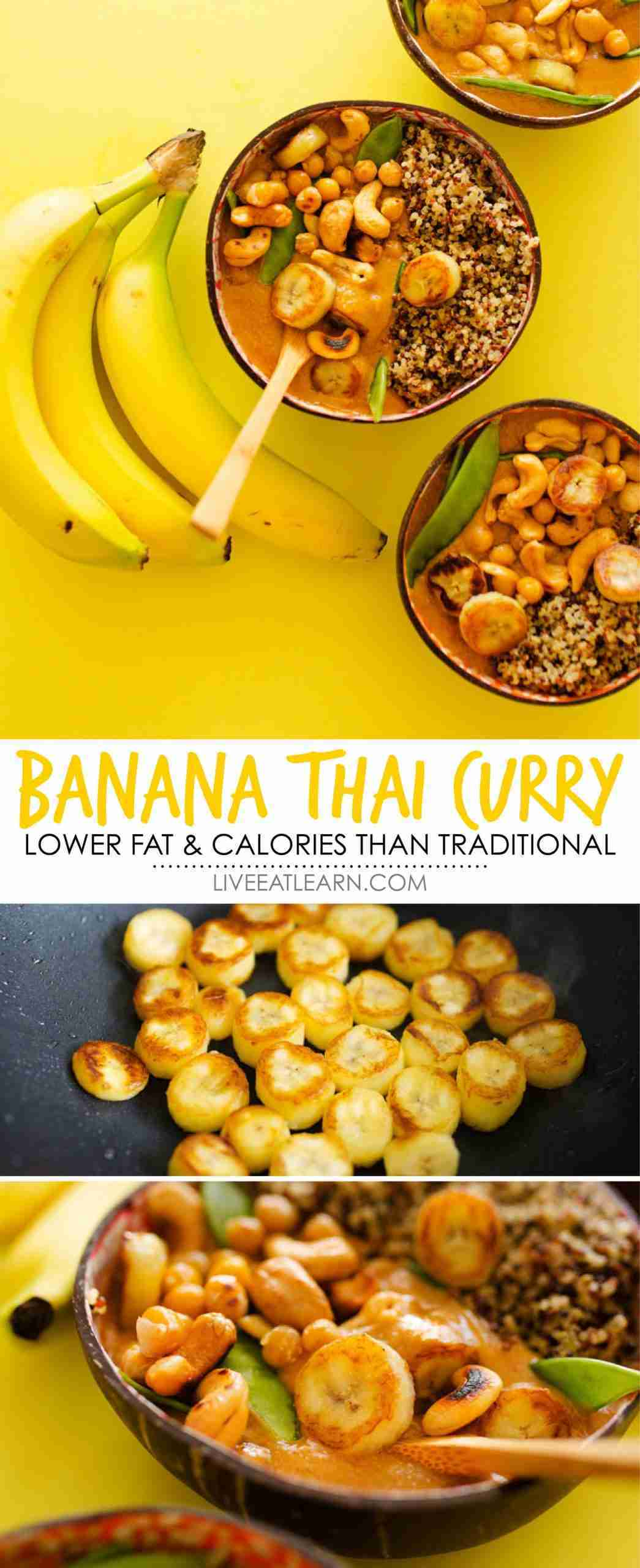 Banana Curry (Spicy Thai Style with Red Lentils)