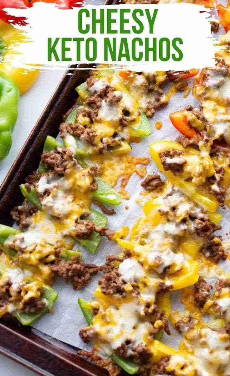 Cheesy Bell Pepper Keto Nachos (Low Carb)