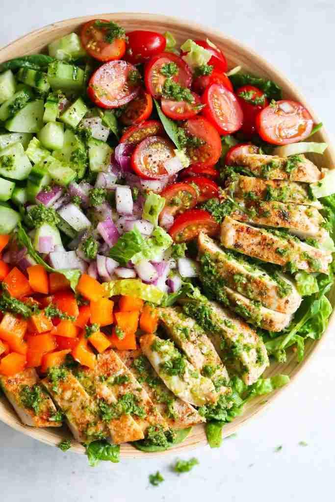 Chimichurri Chicken Chopped Salad