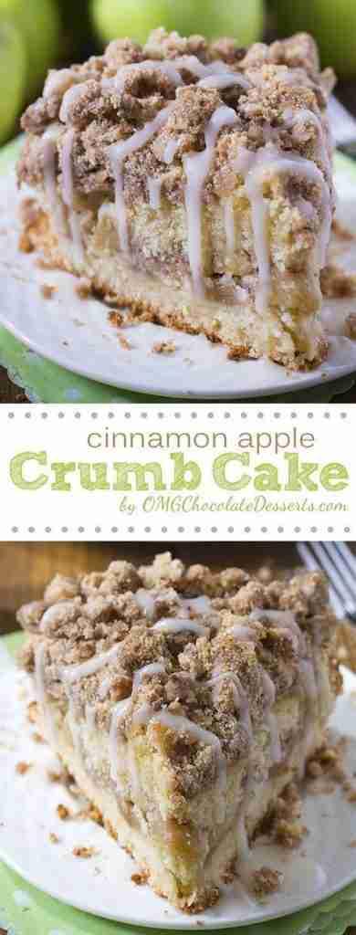 Cinnamon Apple Crumble Cake