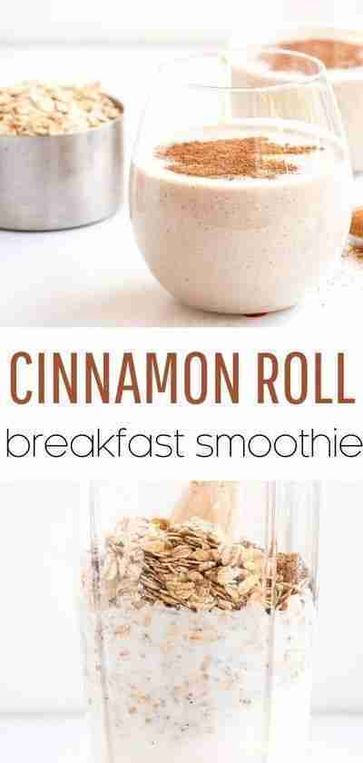 Cinnamon Roll Breakfast Smoothie – I Heart Naptime