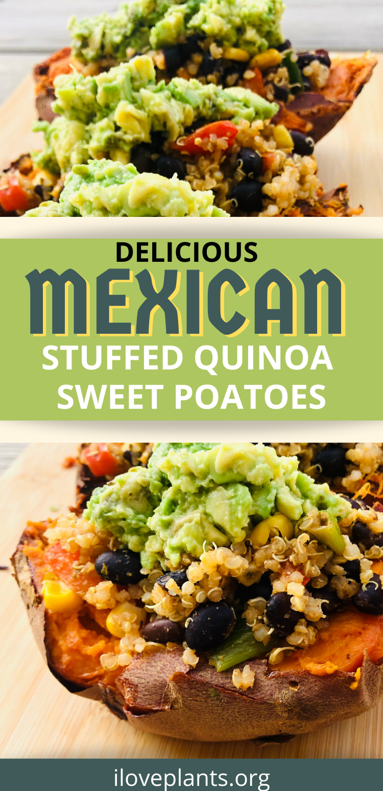 DELICIOUS Mexican Stuffed Quinoa Sweet Potatoes