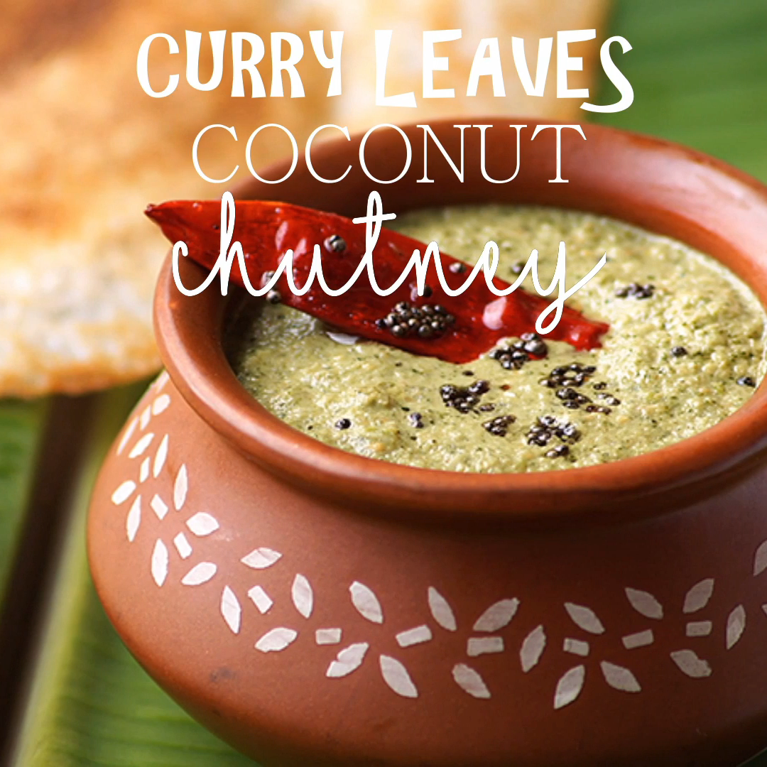 Easy Curry Leaves Coconut Chutney Recipe for South Indian Breakfast Dishes!