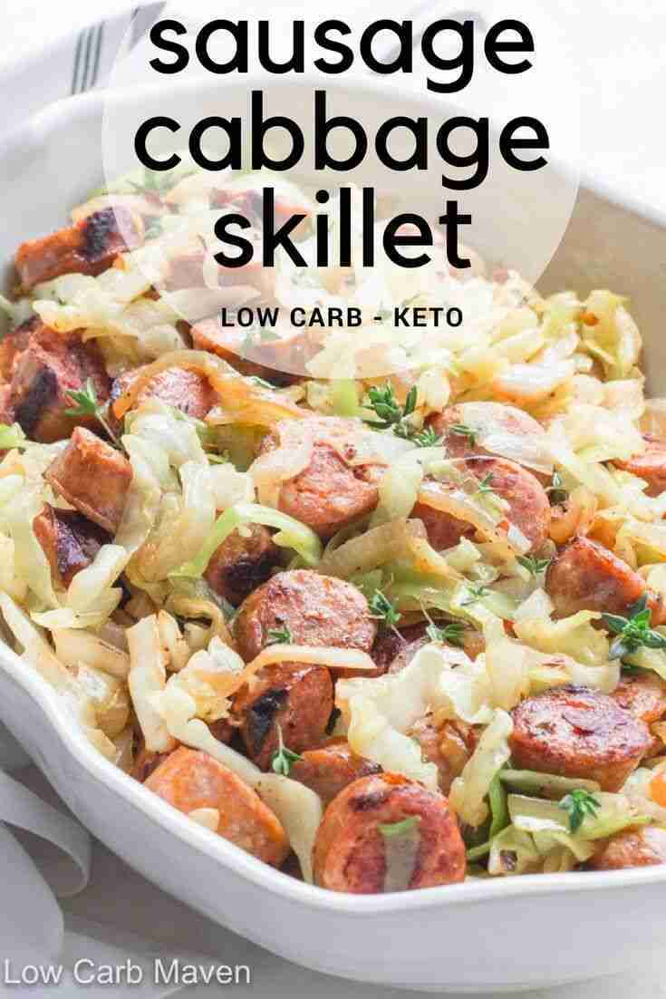 Easy Sausage and Cabbage Skillet Dinner