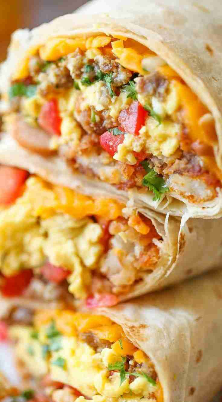Freezer Breakfast Burritos – Damn Delicious