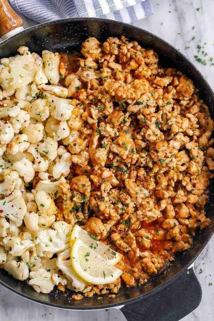 Garlic Butter Turkey with Cauliflower Recipe