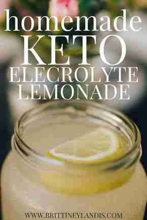 Homemade Keto Electrolyte Lemonade – Brittiney Landis