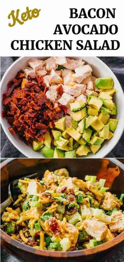 Keto Avocado Bacon Chicken Salad – Savory Tooth