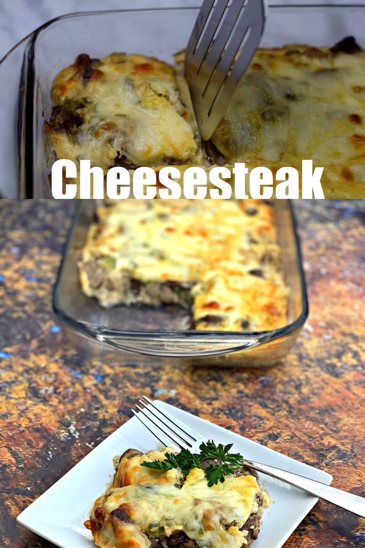 Keto Low-Carb Philly Cheese Steak Casserole