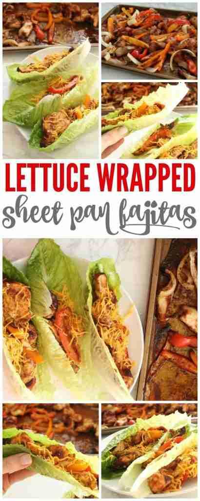 Lettuce Wrapped Sheet Pan Fajitas with Homemade Fajita Seasoning
