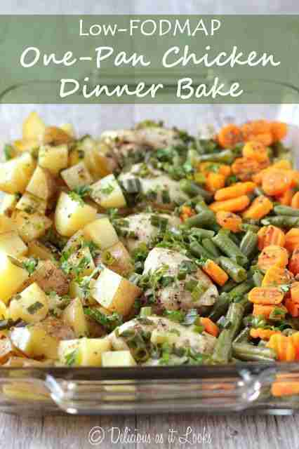Low FODMAP One Pan Chicken Dinner Bake – Delicious as it Looks