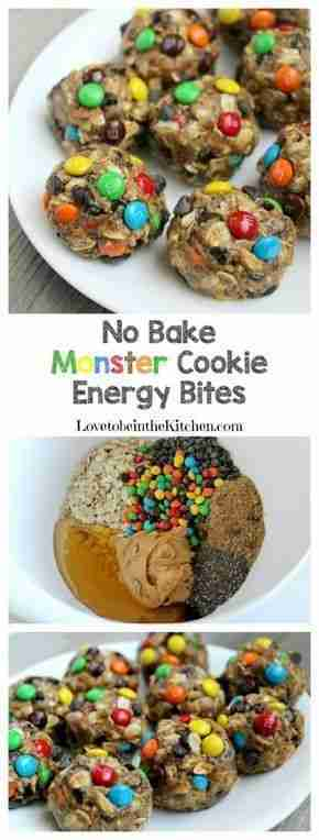 No Bake Monster Cookie Energy Bites – Love to be in the Kitchen