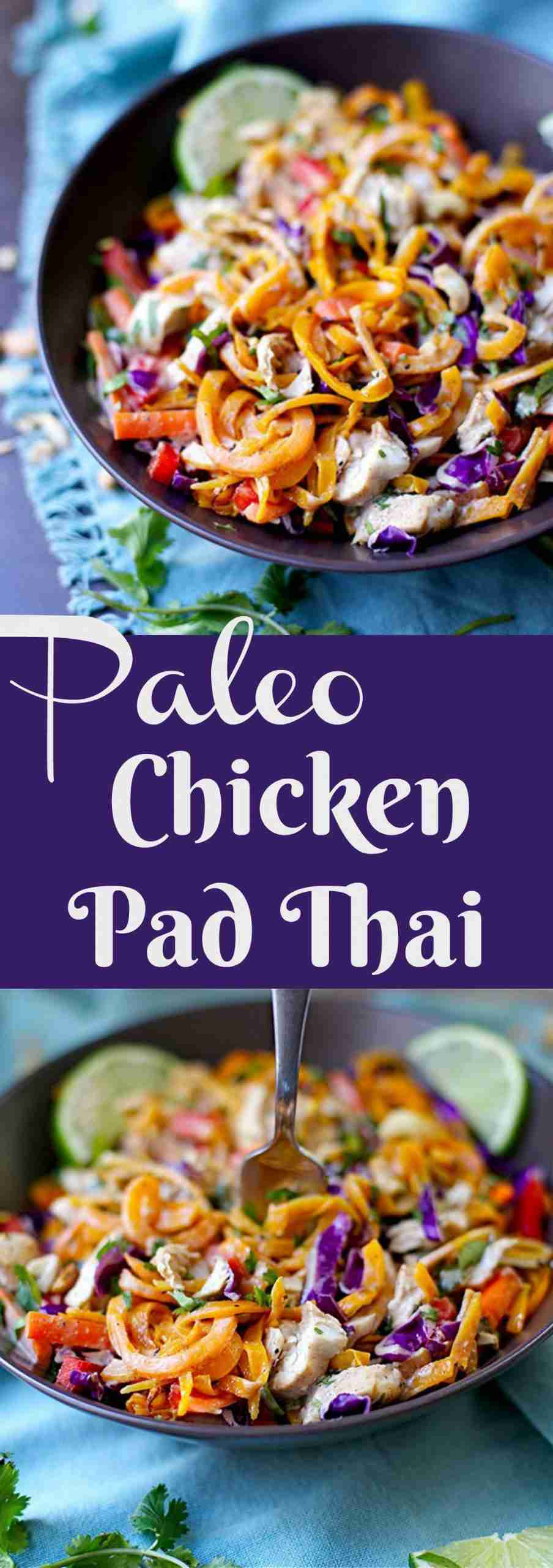 Paleo Chicken Pad Thai – Wholesomelicious