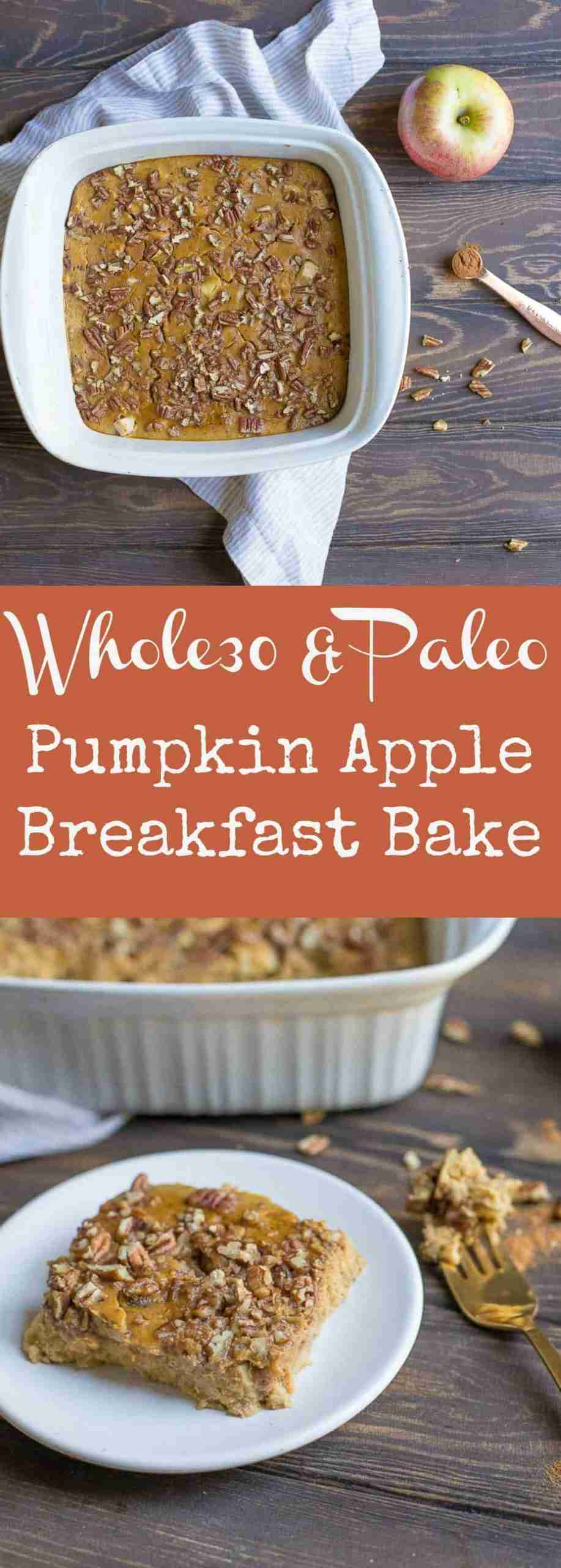 Pumpkin Apple Breakfast Bake – Wholesomelicious