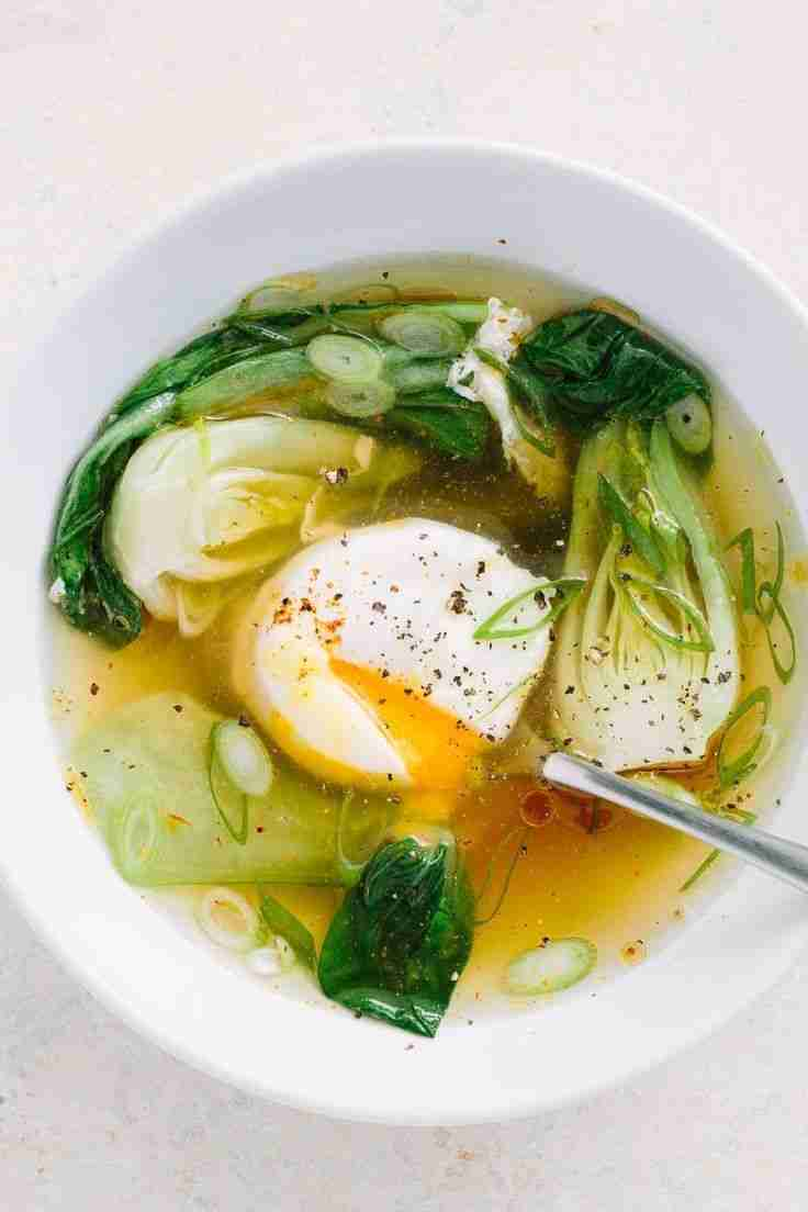 Recipe: Gingery Poached Egg Soup