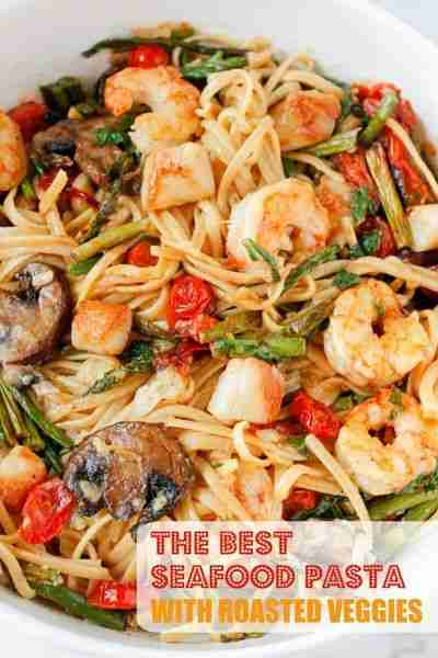 Seafood Pasta with Roasted Veggies – Smile Sandwich
