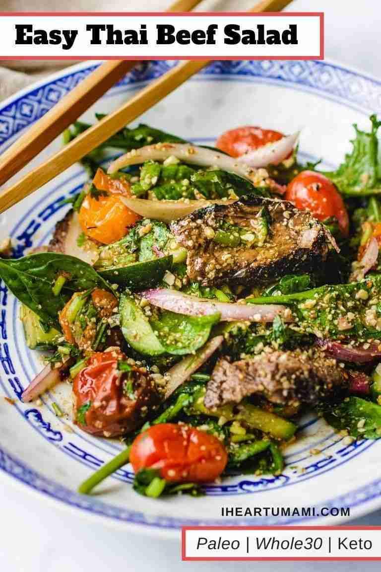 Thai Beef Salad (Gluten-Free, Paleo, Low Carb, Whole30)