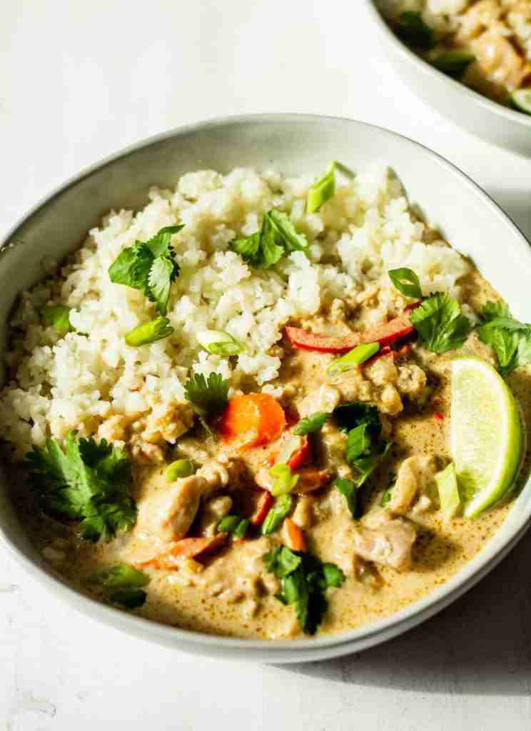 Thai Green Curry with Chicken and Vegetables – All the Healthy Things