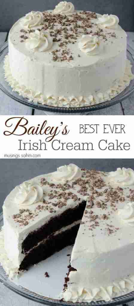 The Best Bailey's Irish Cream Cake With Whipped Cream Frosting