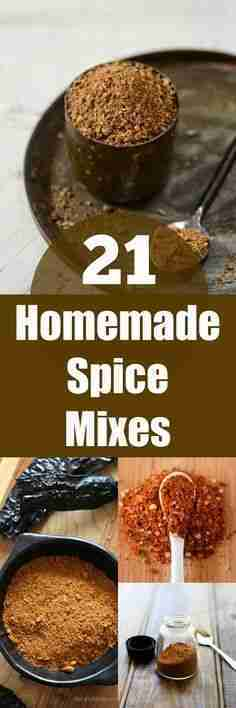 21 Homemade Spice Mixes: The Perfect DIY Gift