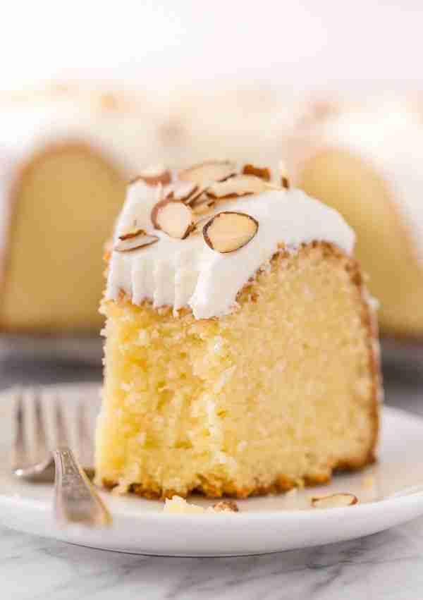 Almond Amaretto Pound Cake Recipe – Baker by Nature