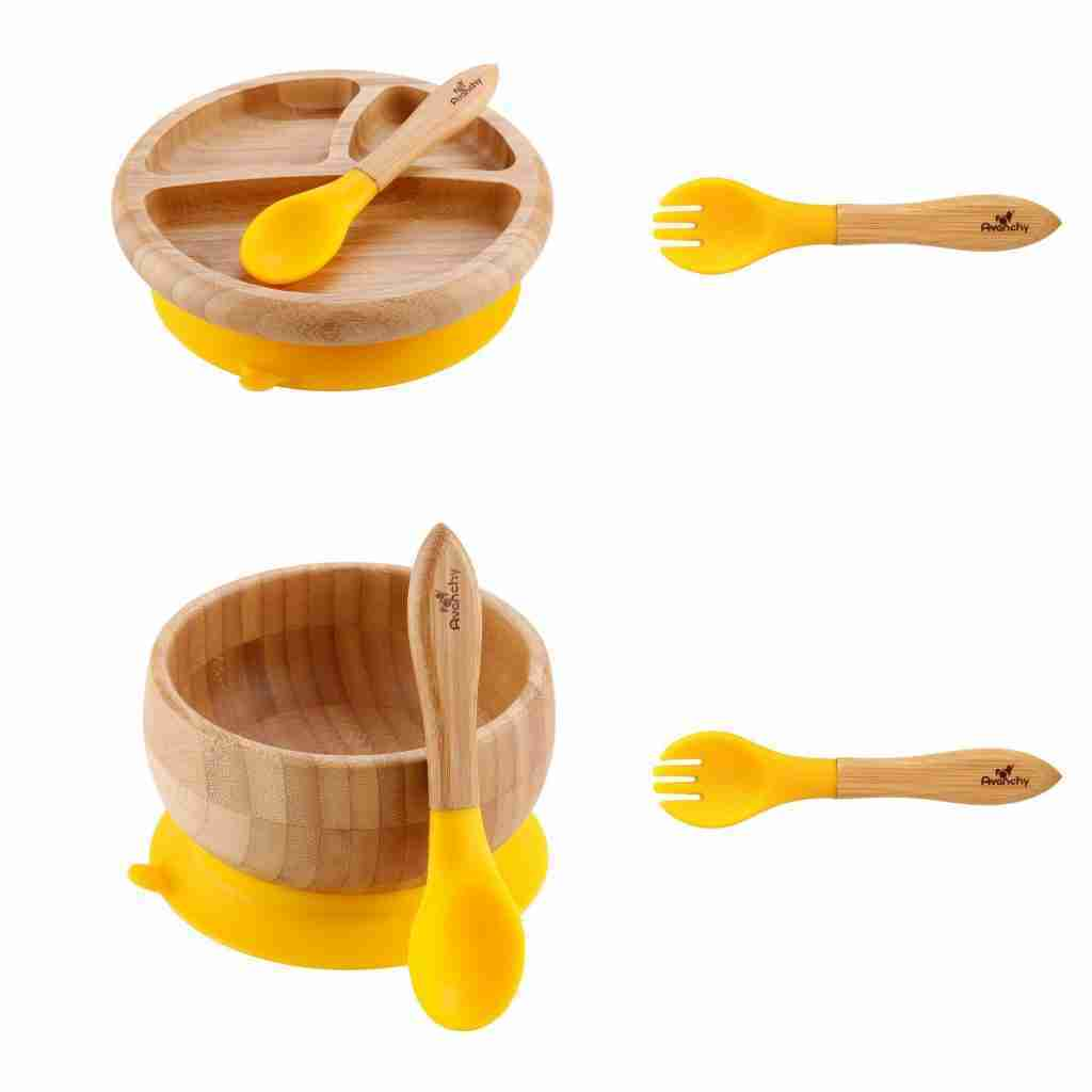 Avanchy Bamboo Starter Kits – Forks / Yellow