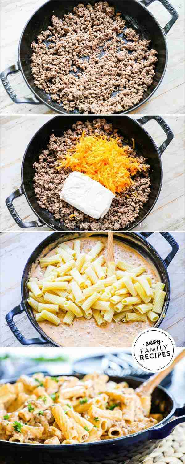 BEST EVER! Cheeseburger Pasta – The EASY way!