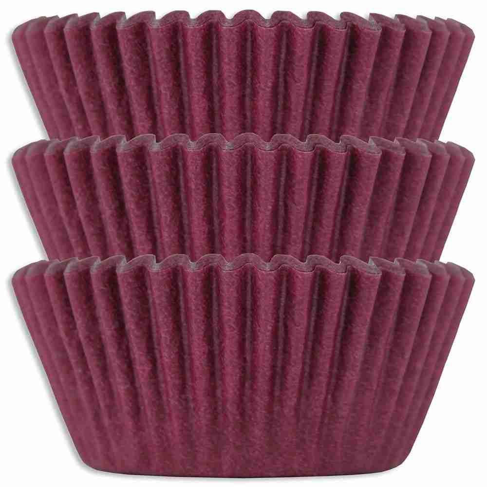 Burgundy Baking Cups