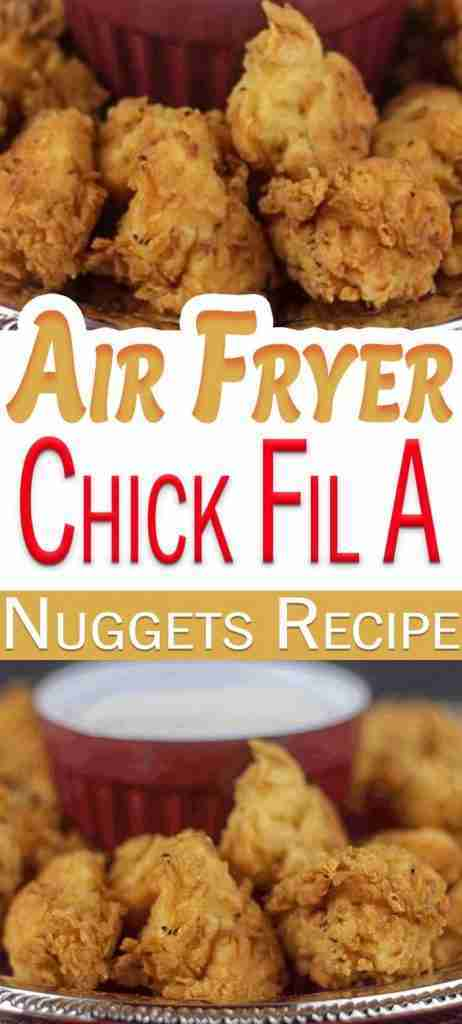 Chick Fil A Nuggets   Air Fryer Chicken Nuggets
