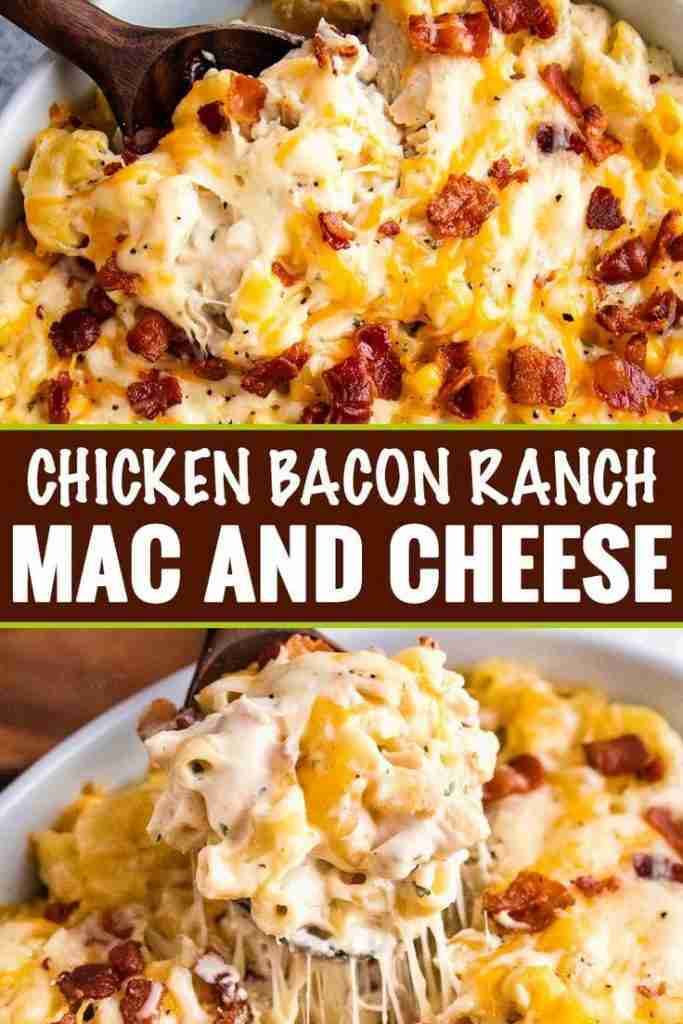 Chicken Bacon Ranch Mac and Cheese Casserole – The Chunky Chef
