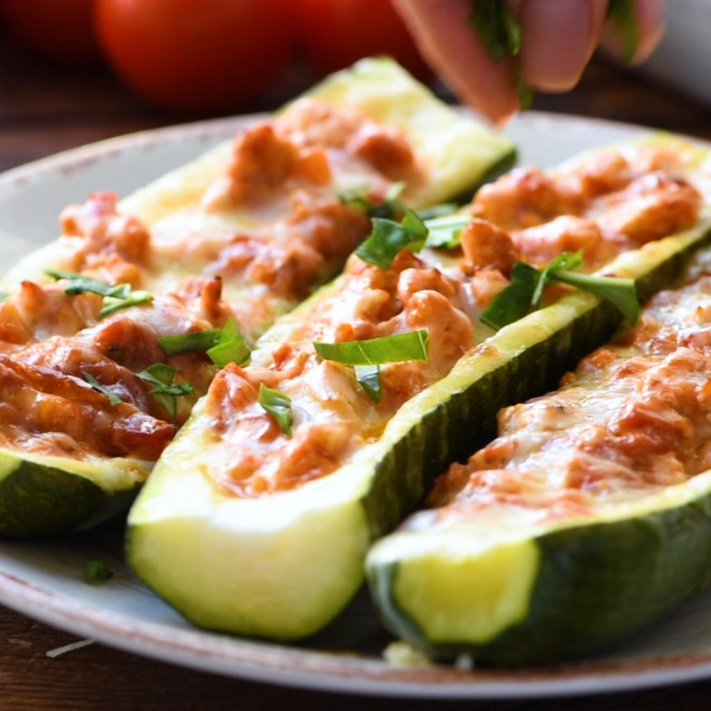 Chicken Parmesan Zucchini Boats – The Wholesome Dish