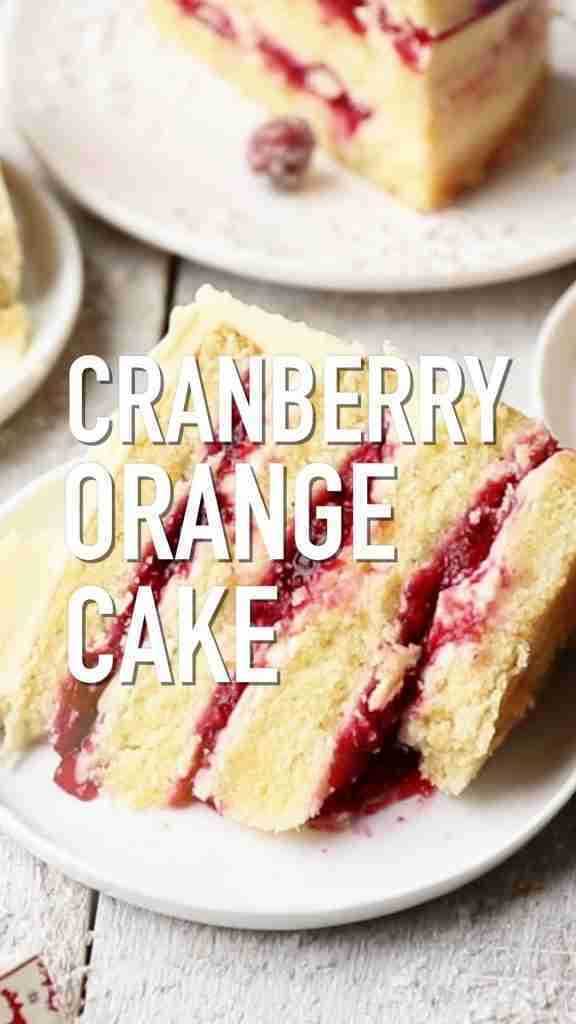 Cranberry Orange Cake with White Chocolate Frosting   Also The Crumbs Please