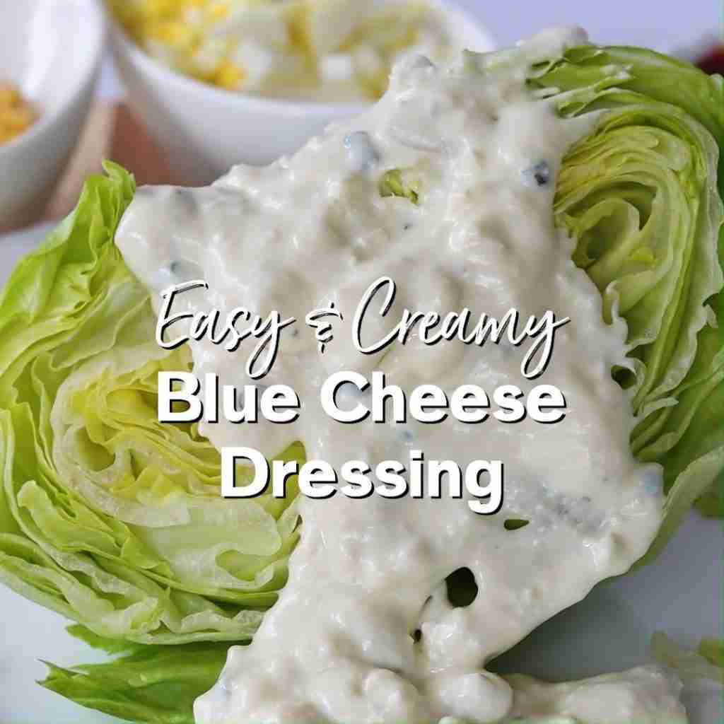 Creamy Blue Cheese Dressing – Easy Salad Dressing! (Low Carb & Keto)