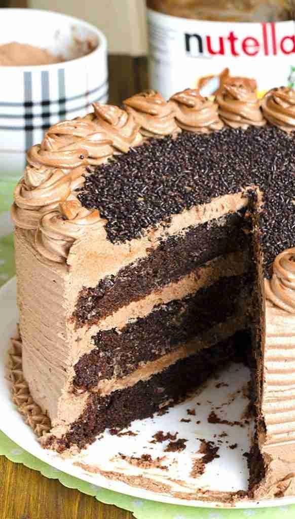 Decadent Nutella Chocolate Cake