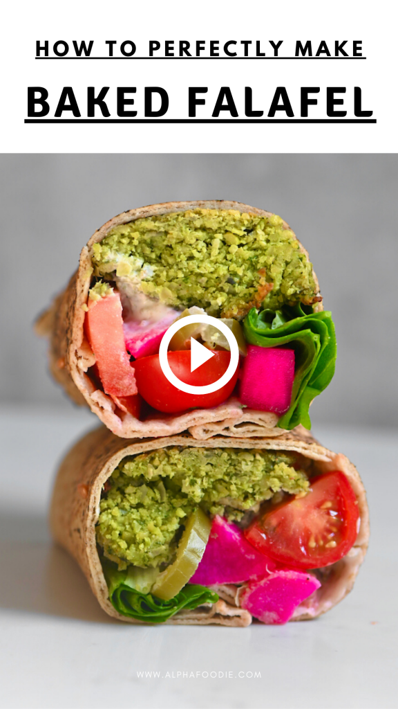 Easy Vegan Healthy Baked Falafel